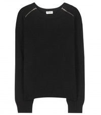 Saint Laurent Wool And Cashmere Blend Sweater Black