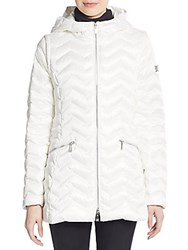 Dawn Levy Cleo Convertible Down Puffer Coat Alabaster