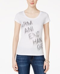 Armani Exchange Short Sleeve Graphic T Shirt Solid White