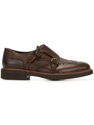 Canali Classic Monk Shoes Brown