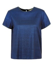 Yumi Glitter And Gold Dust Top Blue