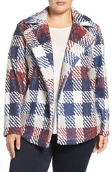 Vince Camuto Plus Size Women's Two By Plaid Tweed Jacket