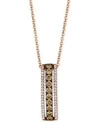 Le Vian White And Chocolate Diamond Pendant Necklace In 14K Rose Gold 1 2 Ct. T.W.