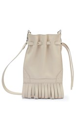 Bertoni1949 Fanny Fringe Bucket Bag White