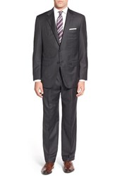 Men's Hickey Freeman 'Addison A Series' Classic Fit Stripe Wool Suit
