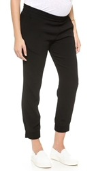 Monrow Maternity Crepe Skinny Sweats Black