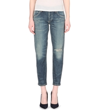 Citizens Of Humanity Emerson Slim Fit Boyfriend Mid Rise Jeans Madera Drk