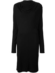 Lutz Huelle Cowl Neck Dress Black