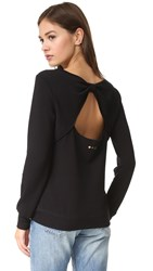 Beyond Yoga Kate Spade New York Cozy Fleece Bow Pullover Black