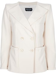 Sonia Rykiel Double Breasted Blazer Nude And Neutrals