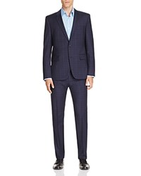 Hugo Aeron Hamen Windowpane Slim Fit Suit Black