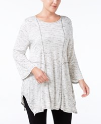 Styleandco. Style Co. Plus Size Space Dyed Handkerchief Hem Tunic Only At Macy's Winter White