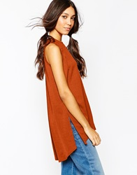 Daisy Street Tunic With Side Splits Rust