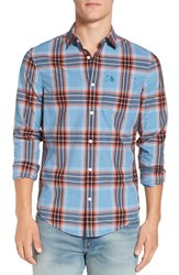 Original Penguin Men's 'P55' Trim Fit Plaid Woven Shirt