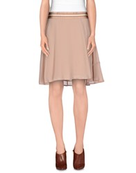 Fairly Skirts Knee Length Skirts Women Skin Color