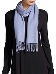 Yves Saint Laurent Fringed Cashmere Scarf Sky