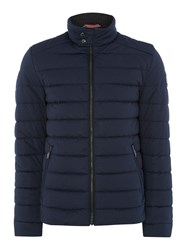Bugatti Quilted Bomber Coat Blue