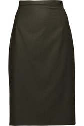 Theory Hemdall Wool Blend Skirt Army Green