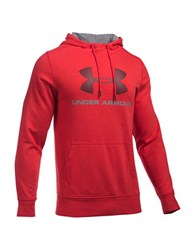 Under Armour Ua Sportstyle Fleece Graphic Hoodie Red