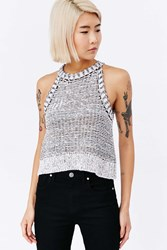 Silence And Noise Silence Noise Maria Sweater Tank Neutral Multi
