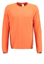 Adidas Performance Sports Shirt Solar Orange Maroon
