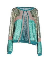 Fairly Knitwear Cardigans Women Turquoise
