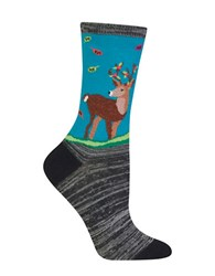 Hot Sox Deer Graphic Socks Teal