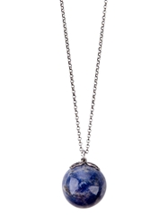 Laura B Ball Pendent Necklace Metallic