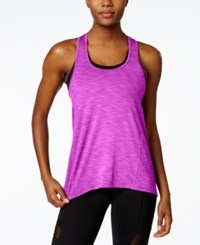 Betsey Johnson Space Dyed Tank Top Neon Orchid