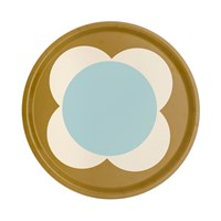 Orla Kiely Large Spot Flower Round Tray Duck Egg