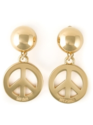 Moschino Peace Sign Earrings