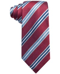 Tasso Elba Men's Corso Striped Classic Tie Only At Macy's Red