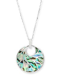 Venus Abalone And Diamond Pendant Necklace White Frederic Sage