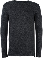 Transit Panelled Jumper Black