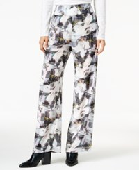 Bar Iii Pull On Wide Leg Pants Only At Macy's Washed White Combo