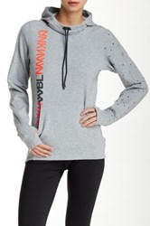 Reebok Funnel Neck Hooded Pullover Gray