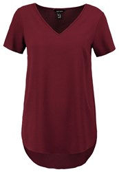 New Look Katy Basic Tshirt Dark Burgundy Bordeaux