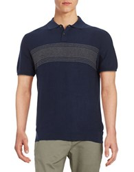 Black Brown Striped Sweater Polo Blue Indigo