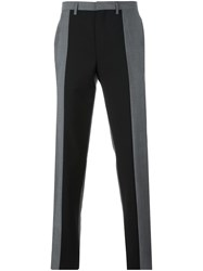 Kenzo Panelled Tailored Trousers Grey