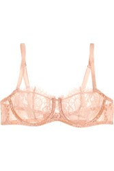 I.D. Sarrieri Love Poems Chantilly Lace Balconette Bra Blush