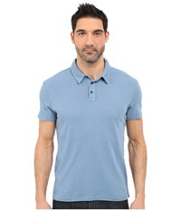 Michael Stars Short Sleeve Worn In Polo Riverbed Men's Short Sleeve Pullover Red