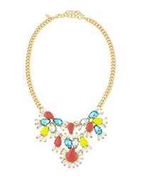 Greenbeads By Emily And Ashley Pear Shaped Crystal Bib Necklace Yellow Coral