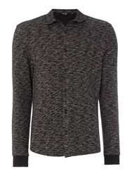 Only And Sons Long Sleeve Jersey Shirt Dark Grey Marl