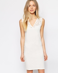Vero Moda Lace Trim Bodycon Dress Snowwhite