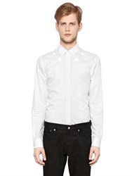 Givenchy Stars Embroidered Cotton Poplin Shirt