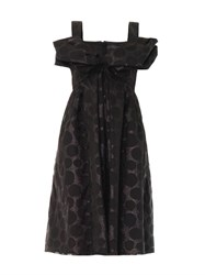 Giles Polka Dot Jacquard Bow Dress