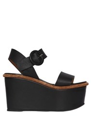 Massimo Lonardo 100Mm Leather Platform Sandals