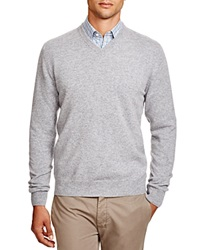 The Men's Store At Bloomingdale's Cashmere V Neck Sweater Light Grey