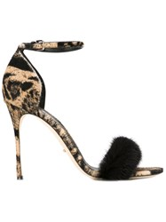 Sergio Rossi Printed Sandals Nude And Neutrals