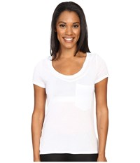 Alo Yoga Rise Short Sleeve Top White White Women's Clothing